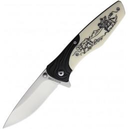 Full Face Mask BW Skull
